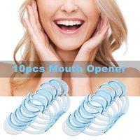 Wholesale Dental Mouth Cheek Retractor - 10pcs C-shape Mouth Opener Dental Cheek Lip Retractor for Mouthguard Challenge Teeth Whitening Tool Blue Large W4077X