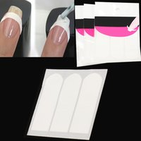 Wholesale Wholesale White Nail Strips - Wholesale-3groups French Manicure Strip Nail Art Form Fringe Guides Sticker DIY Line Tips White High Quality