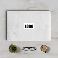 """Wholesale White Hp Laptop - White Marble Laptop Sticker for Apple MacBook Decal Pro Air Retina 11"""" 12"""" 13"""" 15 inch Mac HP Mi Protective Full Cover Skin"""