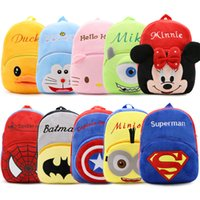Wholesale Animal Backpack Bag Kids - 2017 Korean Cartoon Kids Plush Backpacks Animals Large Schoolbag Plush Backpack School Bags for Girls Boys Backpack 4-7 Years