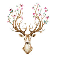 Wholesale Animal Canvas Wall Art - Animal Deer Hand-painted Painting Canvas Art Decorative Scenery Room Home Decor Wall Unframed Arts