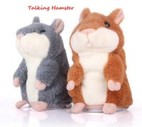 Wholesale Pet Talking Hamster - Talking Hamster Plush Toy Cute Speak Sound Record Hamster 15cm hamster pet talking record Mouse Plush Kids Toy KKA1507