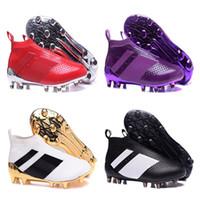 Wholesale Cheap Mens Soccer Cleats - Wholesale 2017 Cheap ACE 16+ PureControl FG 2016 NEW Men's Soccer Shoe boots cheap Performance Mens ace 16 soccer cleats football shoes