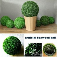 Wholesale boxwood balls resale online - 20cm30cm40cm artificial Plastic Milan Grass boxwood ball kissing ball for Garden Home Decor Wedding Christmas Bar Party Decorations supplies