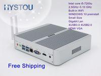 Wholesale Display I5 - Hot sale 7th Gen CPU Intel Core i5 7200U Mini computer Windows10 dual display 8USB Low Power 12V Micro Computer PC