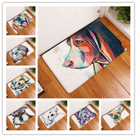Wholesale Wholesale Slip Shower Mat - Bath Mat Big Faced Dog 3D printing Non Slip Originality PVC Mats Suction Shower Antiskid Pad Hot Sell 9 8xr J R