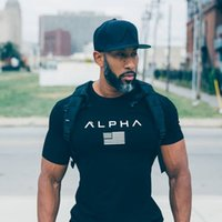 Wholesale Fitness Engineering - Summer O-neck cottonT-shirt Stadium Shark Stringer Man Body Engineers Bodybuilding Fitness Crime Short Sleeve T-shirt Slim-type