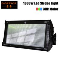 Wholesale Tri Color Led Lights - TP-S1000RGB 1000W RGB Stage Led Strobe Light Tri color mixing High Power Club Flash Light DMX512 Control 3pin 5pin Socket