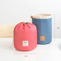 Wholesale Large Cosmetic Bag Nylon Wholesale - Iconic same round drawstring cosmetic bag wash orgnizer package multi - functional bucket travel bags large - capacity cosmetic bag
