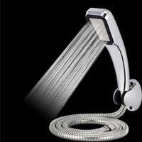 Wholesale Bathromm Chrome Holes ABS Shower Head Set With Holder And Hose Rainfall High Pressure Shower Head Water Saving