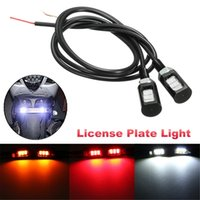 12V 3 5630 LED Motocyclette Car License Plate Screw Bolt Light Lecture automatique Avant Tail Number Lamp Blanc Rouge Jaune