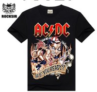 Wholesale T Shirts Designs For Men - Wholesale- 2015 New design High Quality 100% cotton Metallica Rock band men T-shirt fashion street hip hop t shirt AC DC t-shirt for men