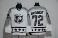 Wholesale Men Star Jacket - 2017 NHL ALL STAR Jerseys Men's Columbus Blue Jackets #72 Sergei Bobrovsky Authentic White Metropolitan Hockey Jersey Top Quality