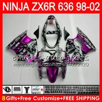 ingrosso zx6r 1998 99-8Gift kit Per KAWASAKI NINJA ZX636 ZX-6R ZX-636 600CC ZX 636 31NO98 Rose Camoufla ZX6R 98 99 00 01 02 ZX 6R 1998 1999 2000 2001 2002 Carenatura