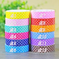 Wholesale Cotton Masking Tape - Wholesale- 2016 1PCS 12colors 4M cotton Polka Dots Masking Tape Washi Adhesive Stationery Decorative DIY Cute Cartoon Scrapbooking Free sh