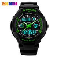Wholesale Men S Watches Alarm - New S Shock Fashion Watches Men Sports Watches Skmei Digital Analog Multifunctional Alarm Military Watch Relogio Masculino