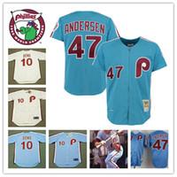 b8ef1dbe Baseball Men Short Mens Philadelphia Phillies Larry Andersen throwback  baseball Jerseys 10 LARRY .