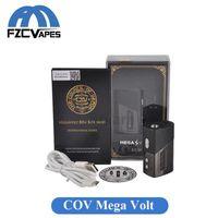 Wholesale E Cigarette Volt - Original COV Mega Volt 80W Box Mod 1750mAh Council of Vapor Megavolt Battery 510 Thread with Top Led Display Vape Mod E Cigarette