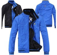 Wholesale Mens Winter Cotton Coat - High Quality kanye west Men's Winter Cotton coat MA1 Bomber Jacket Pilot Jackets reversible veste mens coat Black blue 5XL
