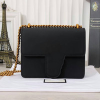 Wholesale Ladies Bags Pockets - Versatile Socialite Style Shoulder Bags for Women Genuine Leather Plain Lady Shoulder Bags with Flap Pocket 431384