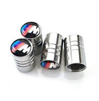 Wholesale Logo Bmw E46 - Tire Valves Tyre Air Caps M Power Performance Logo for BMW e30 e46 e60 e90 e92 f10 f20 Accessories