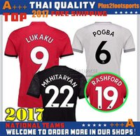 Wholesale Thai Quality Free Shipping - New 2017 2018 best Thai Quality home away jerseys 17 18 UnITED Ibrahimovic MEMPHIS ROONEY POGBA LUKAKU RASHFORD jerseys Free shipping S-4XL