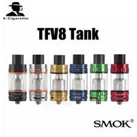 Wholesale Tfv4 Original Tank - Original SMOK TFV4 Vaporizer Atomizer TFV8 Cloud Beast Tank Top Refilling Airflow Control Atomizers Vs Wismec Theorem kangertech RDA Tanks