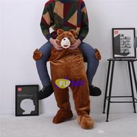 imagem engraçada animal venda por atacado-FUMAT Urso Orangotango Mascot Sumo Ride Em Fantasia Traje Engraçado Traje Animal Engraçado Fancy Dress Calças Fotos Personalização