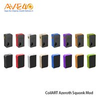 Wholesale Aluminium Capo - Authentic CoilArt Azeroth Squonk Mod 7ml Bottle Compatiable with 18650 20700 21700 Battery Aluminium Anodizing Body VS iJoy CAPO Squonk