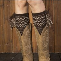 Wholesale Women S Boots Wholesale - Crochet Boot Cuff Polaina Christmas Tassel Knitted Leg Warmers Fashion Rhombus Plaid Women Knitted Leg Warmer buy 80's leg warmers B165
