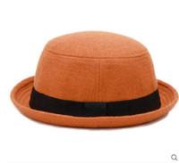 vintage fedora men black оптовых-мода суперзвезда весна широкими полями старинные шерсть фетровые шляпы женщины fedora мужчины черный фетровая шляпа Джаз шляпы сомбреро Шапо femme