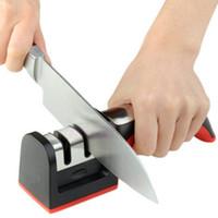 инструмент для заточки ножа из карбида оптовых-Ножи Точилка Carbide Ceramic точило точилка Мультифункции кухонный инвентарь Инструмент нож аксессуары с ручкой камнями