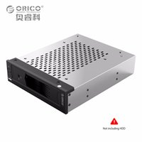 Wholesale Hard Disk Rack - Wholesale- Internal Hard Disk Drive Holder 5.25 in to 3.5 in SATA HDD Converter Mobile Rack for 5.25 CD-ROM Slot Tool Free Stainless Steel