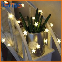 Wholesale Heart Shape Decoration For Cards - 20 Leds Star Shaped LED Fairy String Lights Baby Home Decor Lighting For Holiday Party Decoration