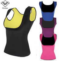 Wholesale Tummy Slimming Suits - Body Shaper Slimming Corset Tummy Sweat Belt Modeling Strap Waist Straps Slimming Fitness Belly Strap Sauna Suit Trainers Women