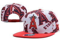 Wholesale Angels Baseball Snapback - New Caps 2017 Baseball Snapback Caps 47 Hats Angel Cap Mix Match Order All Caps in stock Top Quality Hat