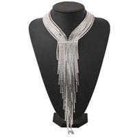 Wholesale Fine Weave - 2017 fashion bohemian big Woven long tassels necklace collar choker necklace vintage statement necklace women Maxi fine Jewelry