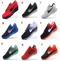 Wholesale Geometric Cushions - Wholesale running shoes kids Top Quality maxes 2017 cushion Sneaker Athletic Shoes Size 7-11 Free Shipping