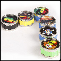 Wholesale grinder tabacco - Multiple Patterns Grinders Bob Marley Grinders Herb 50mm 3 Layers Metal Zinc Alloy Tabacco VS Sharpstone Grinders