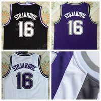 bdad51724bfa Discount 16 Peja Stojakovic Jersey Men Throwback Sports Stojakovic  Basketball Jerseys Vintage All Stitched Team Color Black Purple White ...