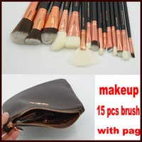 Wholesale Face Hairs - ZOV Makeup Brushes Set 15 pcs Foundation Powder Eye Complete Set 15pcs Pennelli Face Eye Brush Eyeshadow Eyeliner Makeup Kit