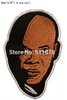 Wholesale Mace Wholesale - Mace Windu Face Embroidered Patch Star Wars Darth Vader Master Jedi Yoda Obiwan Movie TV Series Tshirt Iron On Sew On TRANSFER