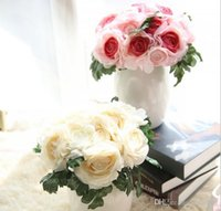 Wholesale Silk Flower Ranunculus - 4 colors 8 heads artificial ranunculus bridal bouquets silk flowers for Valentine's day wedding party home holiday decoration 14666
