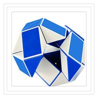 Grátis DHL Mini Creativo Magic Cube 3D Snake Shape Game Brinquedos 3D Cube Puzzles Twist Puzzle Brinquedos Random Intelligence Toys Supertop Games Gifts