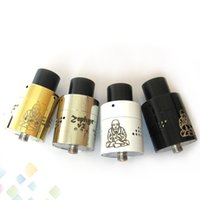 Wholesale Ss Atomizer - Newest Zephyr Buddha V2 RDA Fat Buddha Zephyr V2 Rda Atomizer SS Black White Gold 26650 Tank Fit 510 E Cigarette DHL Free