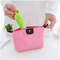 Wholesale Red Toiletries Bag - 9 colosr candy Cute Women's Lady Travel Makeup Bags Cosmetic Bag Pouch Clutch Handbag Hanging Toiletries Travel Kit Jewelry Casual Purse