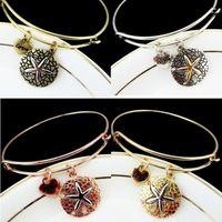 Wholesale Wholesale Starfish Cuff Bracelet - Wholesale-2016 ladies fashion bracelets alloy starfish bracelet