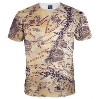 Wholesale Middle Earth - 3D T shirts Hot Sell Men Women 3d T-shirt Retro Print The Middle Earth World Map Brand Tshirts Summer Tops Tees Quick Dry