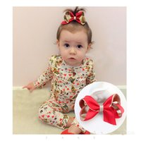 Wholesale Metal Ribbon Clip - Baby Hair Clips Ribbon Bows with Clips Boutique Hair Accessorise Grosgrain Ribbon Solid Color Bow Hairpins for Girls