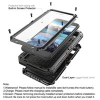 Impermeável Dropproof Dirtproof Shockproof Phone Case para iPhone 4 4s 5 5s 5c 6 6s 4.7 plus Back Metal Cover